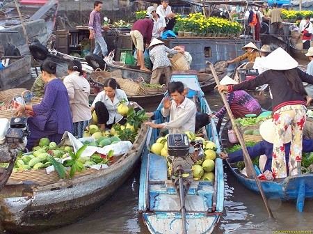 Cai rang floated market